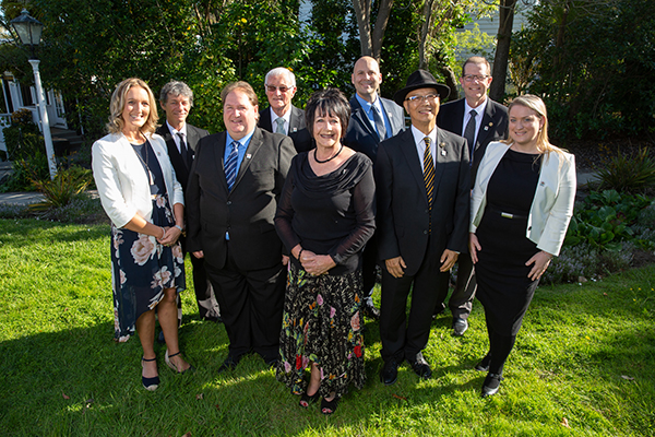 Photo of the nine Howick Local Board members together