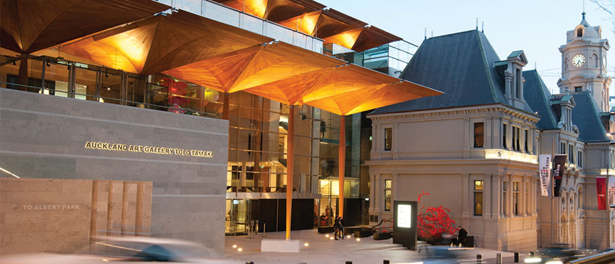 Entrance to Auckland Art Gallery
