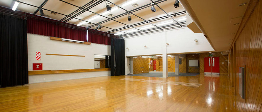 Interior of the Ōtara Music Arts Centre main hall.