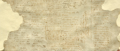 Photo of a section of the original Treaty document.