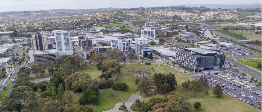 Aerial photo of Manukau centre