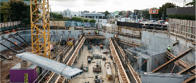 Photo showing major underground construction.