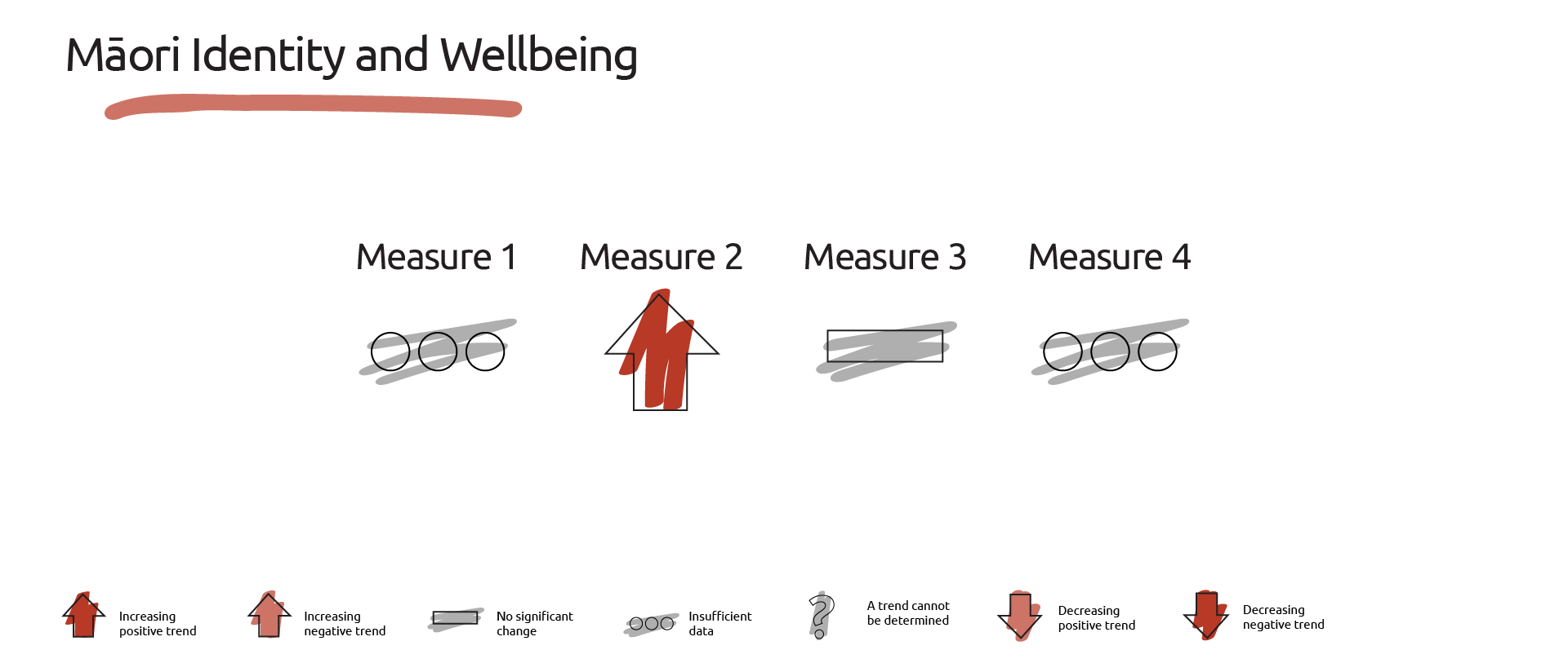 Image showing the dashboard of measures for maori identiy and wellbeing.