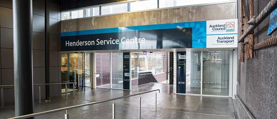 The foyer and entrance to the Henderson service centre.
