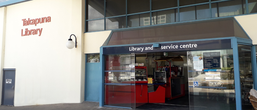The front entrance to Takapuna Service Centre.