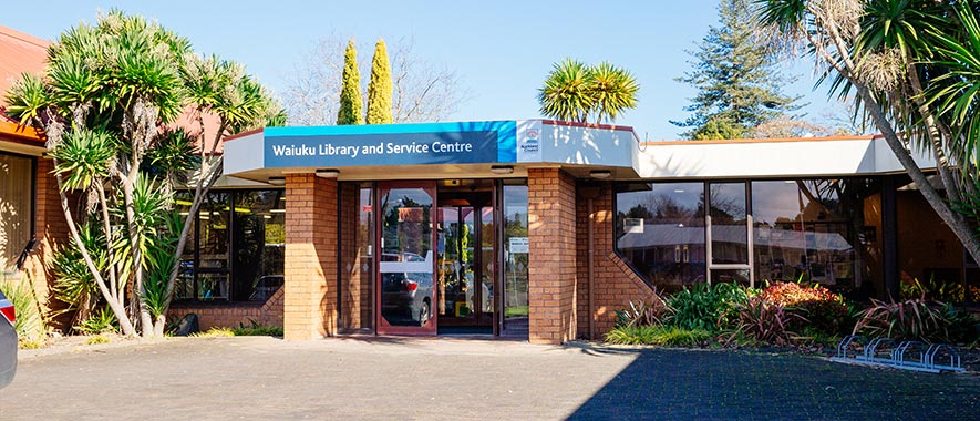 The front entrance to Waiuku Service Centre.