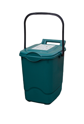 Papakura food scraps bin is teal and has a 23-litre size.